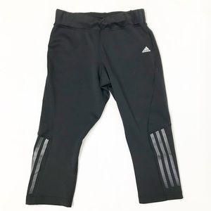 Adidas Black Climalite Workout Cropped Leggings